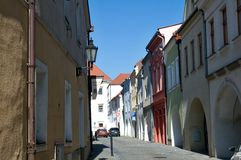 Empty cobblestone street Royalty Free Stock Photos