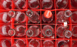 Empty Coca Cola bottles Royalty Free Stock Photography