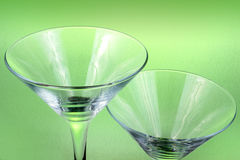 Empty cocktail glasses Stock Photo