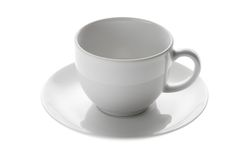 Empty coffee cup. On white Royalty Free Stock Photos