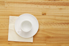 Empty coffee cup Stock Image