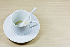 An Empty Coffee Cup Stock Photo