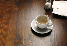 Empty Coffee Cup Royalty Free Stock Images