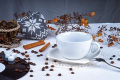 Empty coffee cup Royalty Free Stock Image