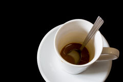 Empty coffee cup on the black. Stock Photography