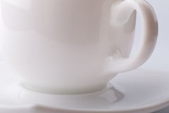An empty coffee cup on a gray Stock Image