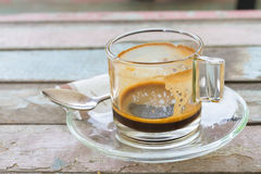 Empty coffee cup after meal Stock Image