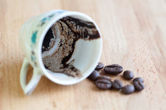 Empty coffee cup Stock Images