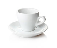 Empty coffee cup and saucer  Royalty Free Stock Image