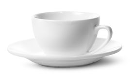 Empty coffee cup on a saucer Stock Images