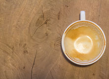 Empty coffee cup on table at coffee shop Royalty Free Stock Photography