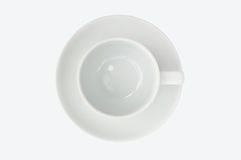 Empty coffee cup top view Royalty Free Stock Photography