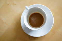Almost empty coffee cup Royalty Free Stock Photography