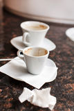 Empty coffee cups Stock Image