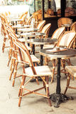 Empty coffee terrace in paris,France Stock Photography