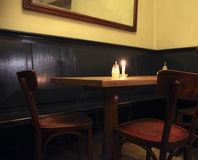 Empty coffehouse in europe stock photos