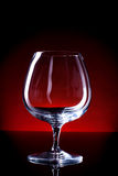 Empty cognac glass Stock Photos