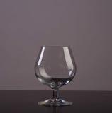 Empty cognac glass Stock Photo