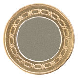Empty coin gold. Empty coin isolated on a white background Royalty Free Stock Photos