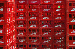 Empty Cola crates Stock Photography