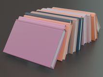 Empty color book mockup template on black background Stock Image