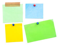 Empty color notes Stock Photography