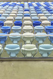 Empty color seats at Maracana football stadium Royalty Free Stock Photo