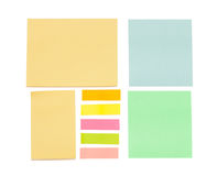 Empty color sticky notes Stock Photos