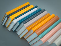 Empty colored books mockup template. High resolution. Royalty Free Stock Photography