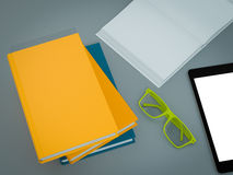 Empty colored books mockup template. High resolution. Royalty Free Stock Images