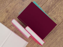 Empty colored books mockup template. High resolution. Stock Images