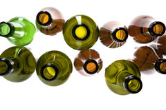 Empty colored bottle close up Royalty Free Stock Image