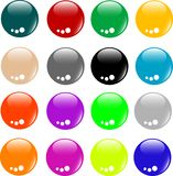 Empty Colored Web Button Collection Royalty Free Stock Photos