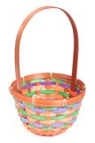 Empty colored wicker basket. On white background Stock Photos