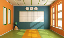Empty Colorful classroom Stock Photography