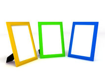 Empty colorful frameworks for photos on white Royalty Free Stock Image