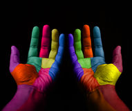 Empty Colorful Hands Royalty Free Stock Images
