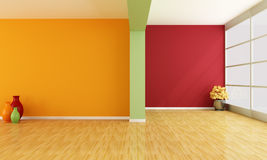 Empty colorful interior Stock Images