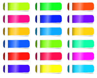 Empty Colorful label paper set. Vector sticker. Stock Photos