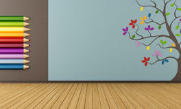 Empty colorful playroom Royalty Free Stock Photography