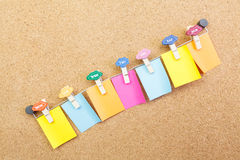 Empty colorful post it Stock Photography