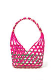 Empty Colorful Wicker Basket (hand made) Stock Photography