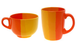 Empty colour cup Stock Images