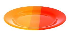 Empty colour plate Stock Photos