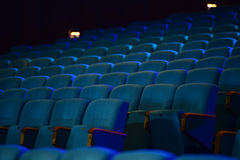 Empty comfortable green seats in theater, cinema Royalty Free Stock Images