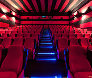 Empty comfortable red seats in cinema Royalty Free Stock Image