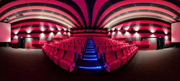 Empty comfortable red seats in cinema Stock Photo