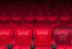 Empty comfortable red seats in thearter Royalty Free Stock Photo
