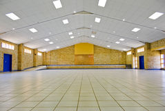 Empty Community Hall for Hire. Tiled floor, empty room, for hire for most community based activities stock photos