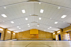 Empty Community Hall for Hire. Tiled floor, empty room, for hire for most community based activities royalty free stock photo